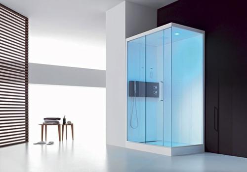 Bilder Von Innovativen Dampfduschen Badezimmer Beleuchtung Blau