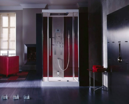 innovative Dampfduschen whirlpool badezimmer dunkles ambiente