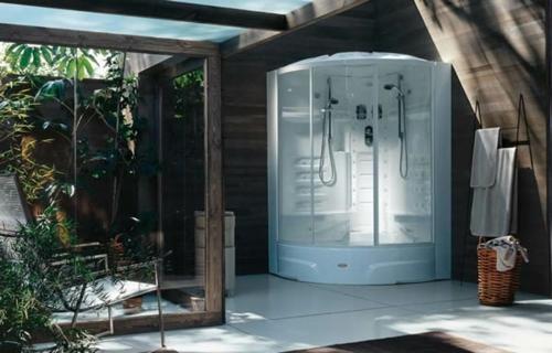 Innovative Dampfduschen Whirlpool Badezimmer Exotisch