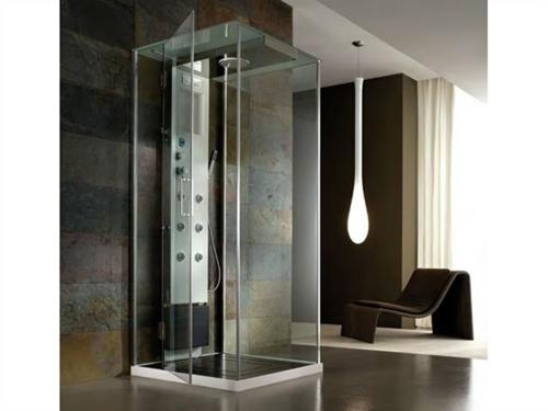 innovative Dampfduschen whirlpool badezimmer glastüren