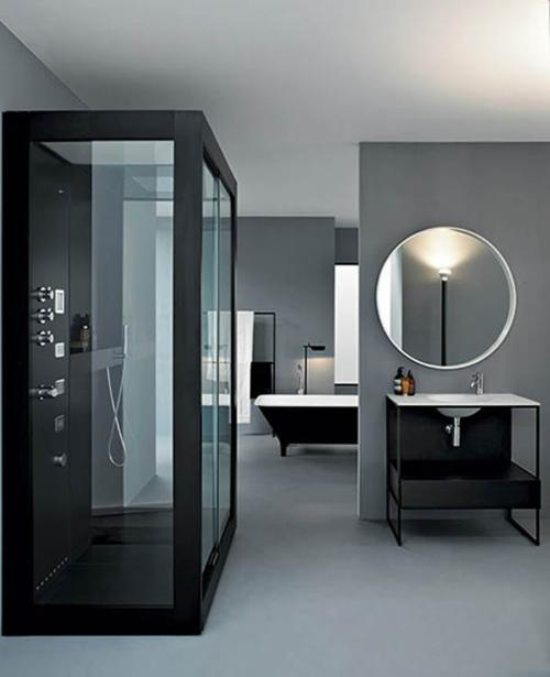 Bilder von innovativen Dampfduschen badezimmer glaswänden wandspiegel