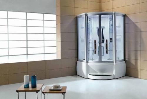 innovative Dampfduschen whirlpool badezimmer minimalistisch