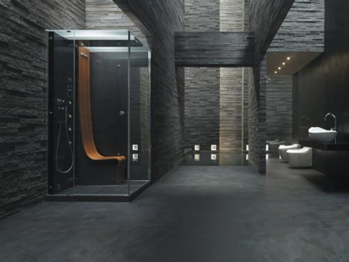 Bilder von innovativen Dampfduschen badezimmer raue wände