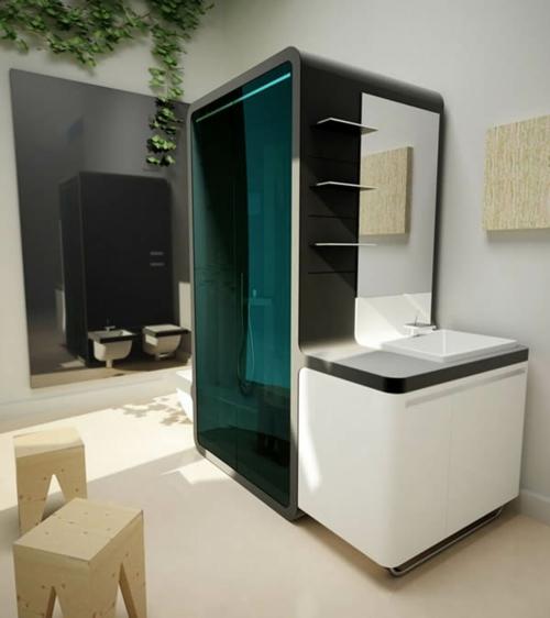 innovative Dampfduschen whirlpool badezimmer waschbecken