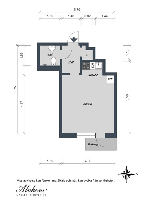 Charmante Einzimmerwohnung In Schweden Bauplan