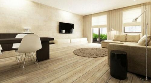 Wohnzimmer In Weiss Braun Lecker On Moderne Deko