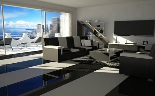 Das Wohnzimmer attraktiv einrichten lang glanzvoll oberflächen