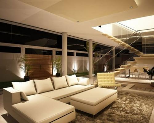 Das Wohnzimmer attraktiv einrichten sofas kissen teppich weich