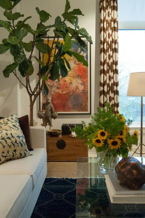 Dekoration und Accessoires fürs schöne Zuhause gardinen sonnenblumen