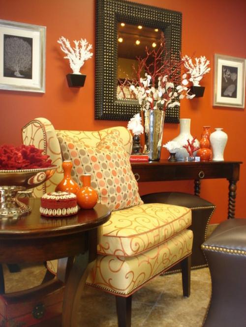 Dekoration und Accessoires fürs schöne Zuhause orange wände