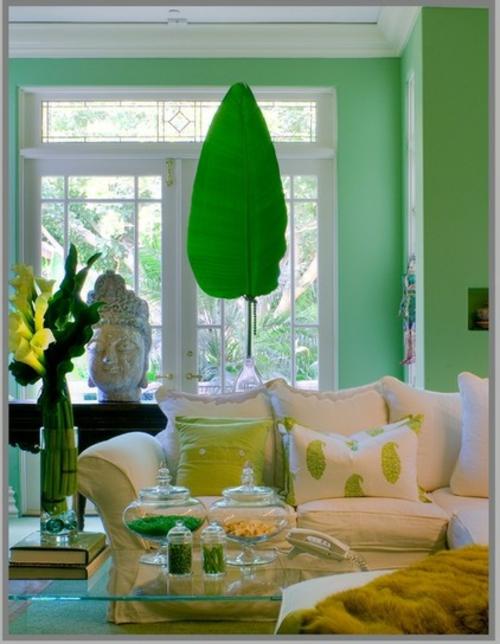 Dekoration und Accessoires fürs schöne Zuhause pflanzen minzgrün sofa