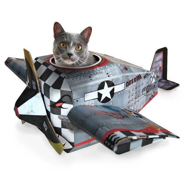 Designer Möbel und Accessoires für Haustiere katze flugzeug