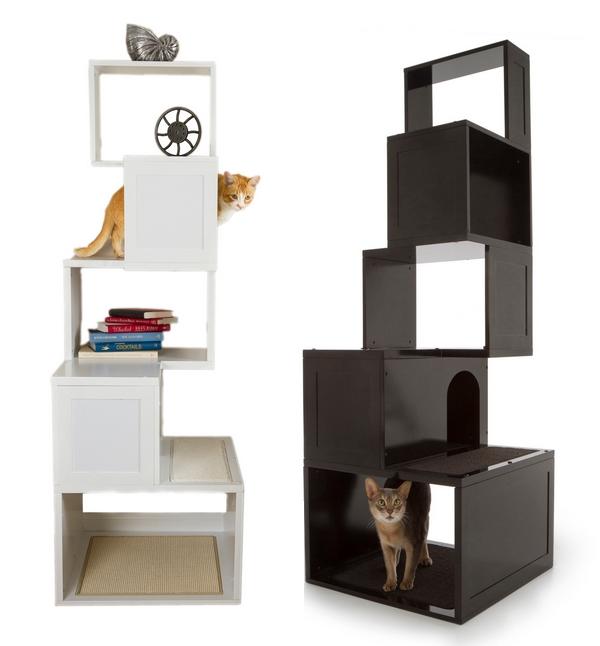 Designer Möbel und Accessoires für Haustiere regale schwarz struktur