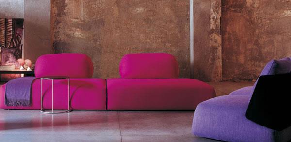Die attraktive Cocoon Couchgarnitur sofas rosa lila