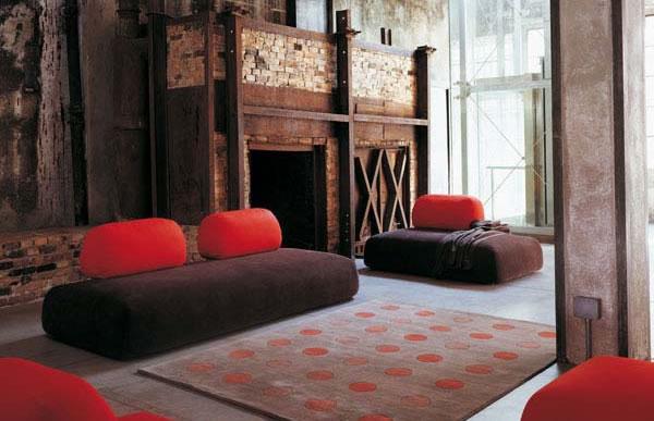 Die attraktive Cocoon Couchgarnitur sofas sitzplatz rot rücklehne
