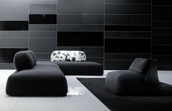 Die attraktive Cocoon Couchgarnitur sofas sitzplatz schwarz