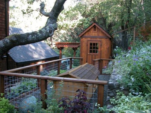 Gartenhaus im Hinterhof attraktiv design außenbereich