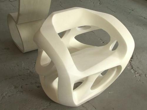High tech Möbel Designs idee originell stühle weiß
