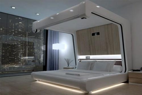 indirekte beleuchtung wohnzimmer pinterest himmelbetten aus holz im schlafzimmer - Indirekte Beleuchtung Schlafzimmer