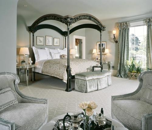 Himmelbetten im Schlafzimmer gestell natur klassisch