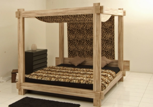 Himmelbett aus holz selber machen  50 coole Ideen für Himmelbetten aus Holz im Schlafzimmer