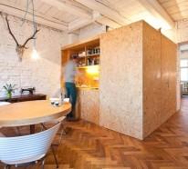 Homeoffice mit skandinavischem Design in Bratislava