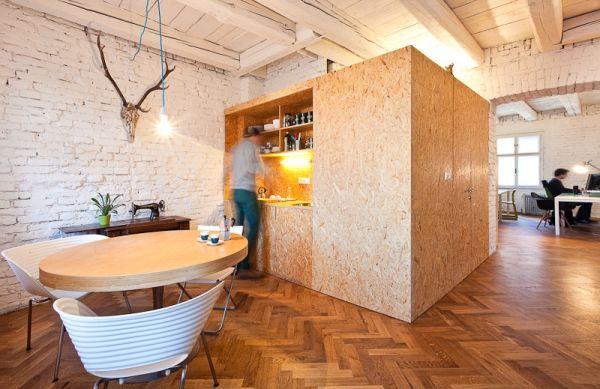 Homeoffice mit skandinavischem Design in Bratislava esstisch küche