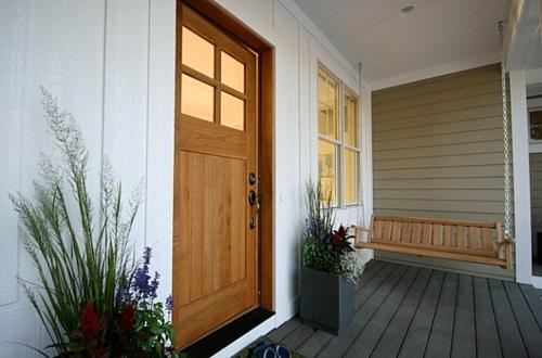Interior Design Ideen in Craftsman Stil eingangstür schaukel veranda