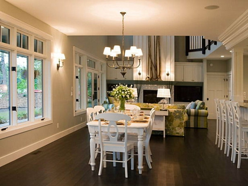 Interior Design Ideen in Craftsman Stil esszimmer weiß möbel