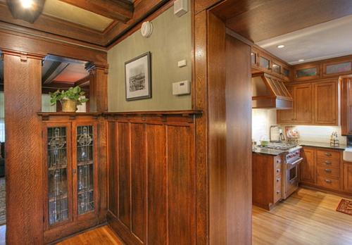 Interior Design Ideen in Craftsman Stil holz details historische küche
