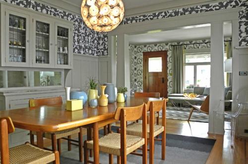 Interior Design Ideen in Craftsman Stil holz tisch stühle esszimmer