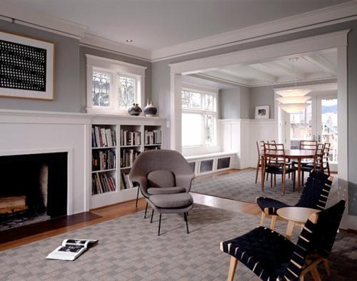 Interior Design Ideen in Craftsman Stil modern möbel bücherregale