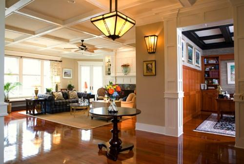 Interior Design Ideen in Craftsman Stil modern wohnzimmer