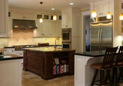 Interior Design Ideen in Craftsman Stil moderne küche hängelampen