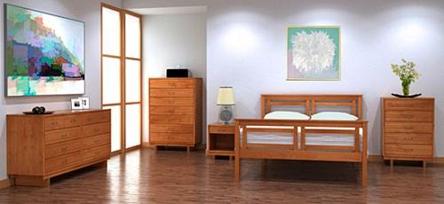 Interior Design Ideen in Craftsman Stil schlafzimmer holz möbel