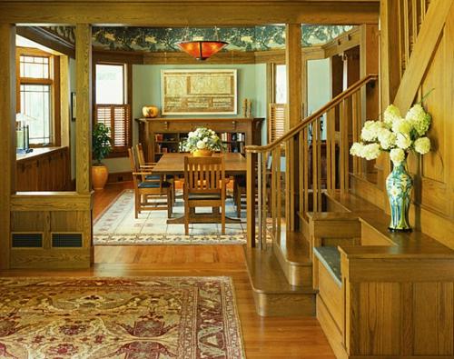 Interior Design Ideen in Craftsman Stil tropische note