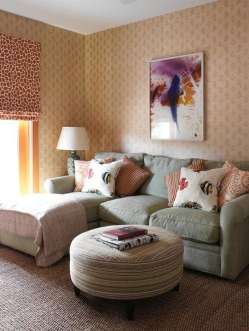 Interior Designs mit cooler Dekoration grau sofa baumwolle