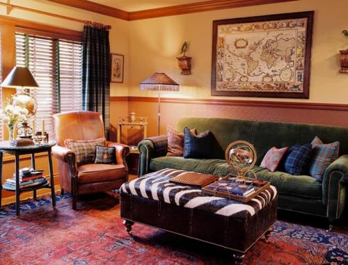 Interior Designs mit cooler Dekoration-orientalisch streifen tier gepolstert