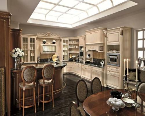 Küchen Designs dachfenster tageslicht klassisch gestaltung