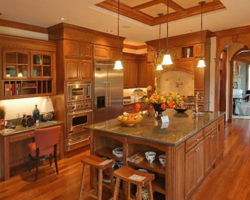 Küchen Designs klassisch einrichtung holz möbel dunkel