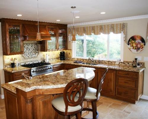 Küchen Designs klassisch einrichtung holz möbel marmor arbeitsplatte