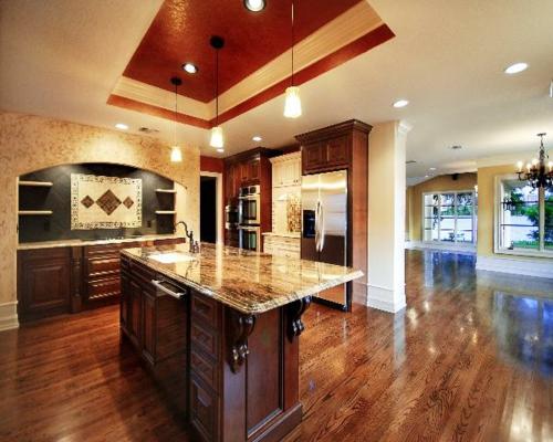 Küchen Designs klassisch einrichtung massiv möbel pendelleuchten