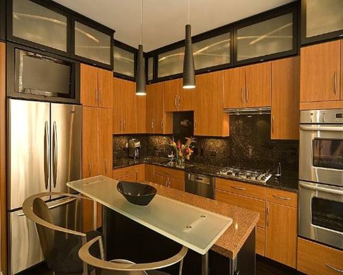 Küchen Designs modern wohnlich ausstattung wandschrank pendelleuchten