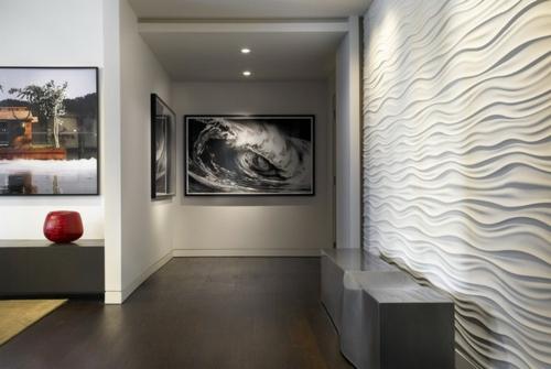 Kunstwerke für die Wohnung gemälde übergang grau holz bodenbelag