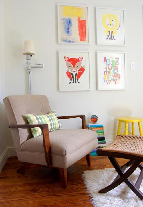 Kunstwerke Für Die Wohnung Gemälde Hell Weiß Einrichtung Wand