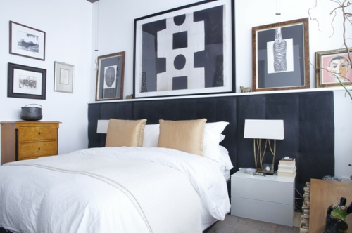 Kunstwerke für die Wohnung schlafzimmer wanddekoration gestaltung