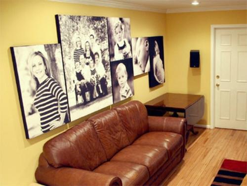 Lärmbelästigung zu Hause gemindert werden sofa braun leder gelb wand