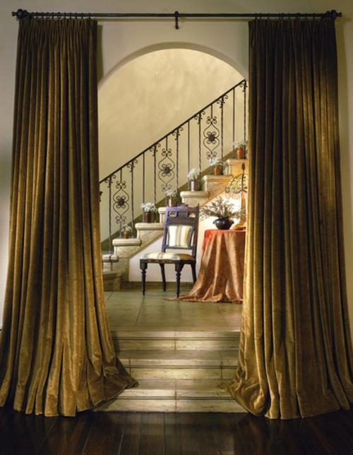 Lärmbelästigung zu Hause gemindert werden treppe ornamente vorhänge