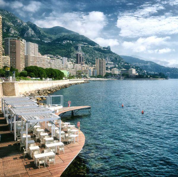 Luxus Beach Bar und Terrasse monaco life club design