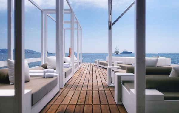 Luxus Beach Bar und Terrasse monaco life club rahmen sofas auflagen